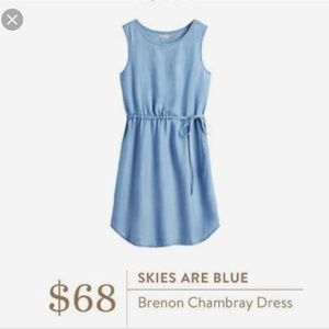 Skies Are Blue Chambray Dress